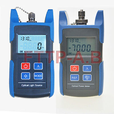 Fiber Optical Light Source & Optical Power Meter with FC/SC Adapter FTTH Tools