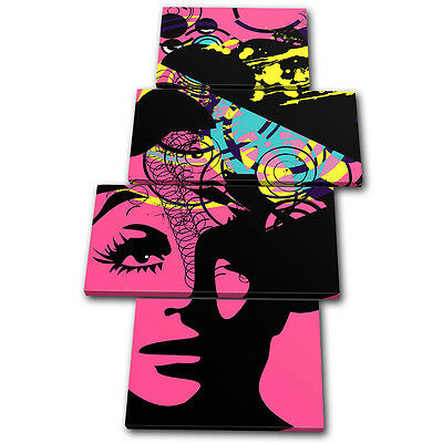 Canvas Art Picture Print Photo Illustraion Abstract Woman Pop Fashion Retro