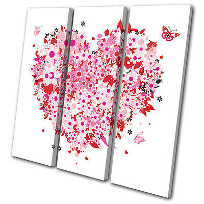 Canvas Art Picture Print Photo Butterfly Love Heart Abstract illustration