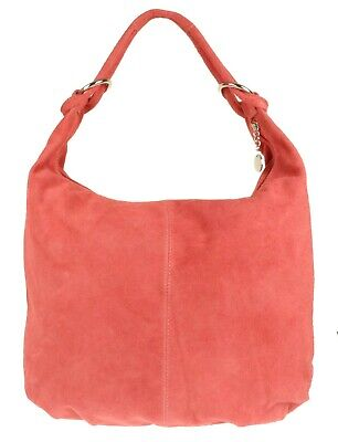 Italian Genuine Suede Real Leather Vera Pelle Shoulder Bag Hobo Slouch Designer
