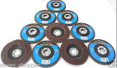 "Lot Of 10-4 1/2"" X 7/8"" Flap 40 Grit Wheel Sanding Disc Aluminum Oxide"