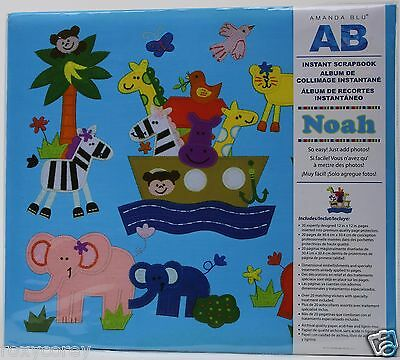 Amanda Blu AB 12X12 Noah Instant Scrapbook Embellish Pages Stickers NWT