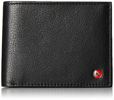 RFID SAFE Alpine Swiss Men's Deluxe Wallet Genuine Leather 14 Pocket ID Bifold