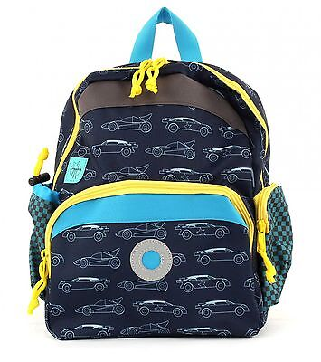 Lässig 4Kids Mini Backpack M Cars Navy Kinderrucksack Blau