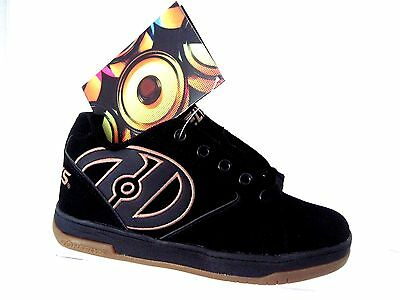 HEELYS Boy's Propel 2.0 Black with Brown Gum Youth Size 4