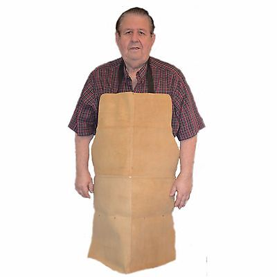 HAWK AL001A - Genuine Gold/Tan Leather Shop Apron Woodworking, Shop Use, Welding