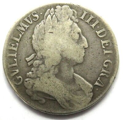 1696 William III Silver Crown Coin - Great Britain