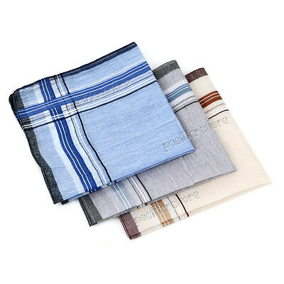 12 Pack Check Pattern Men Handkerchiefs 100% Cotton Square Super Soft & Washable