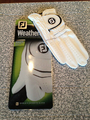 FOOTJOY 2016 GENTS WEATHERSOF GOLF GLOVE Colour WHITE Size MED.LG  NEW