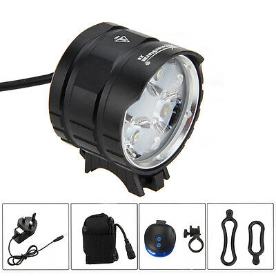 SolarStorm 8000LM 4*CREE XML T6 LED Front Bicycle Light Bike Torches 6400mAh CH