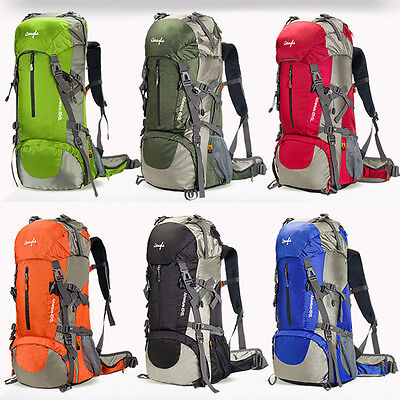 50L/60L Outdoor Camping Rucksack Large Travel Hiking Waterproof Luggage Backpack