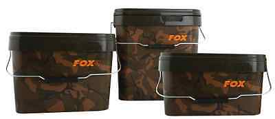 Fox Carp Fishing NEW Camo Square Bucket - All Sizes