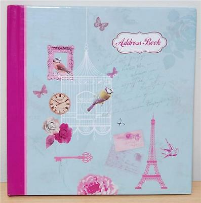 Girls Vintage Shabby Chic Address Contacts Book Handbag Size Hardback Cover