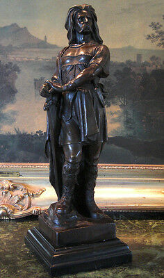 Vercingetorix French Warrior King Military Art Collector Bronze Marble Statue
