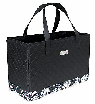 Everything Mary  EVM10143-1 Black/White Quilted Sewing Machine Tote 43x20¼x28½cm