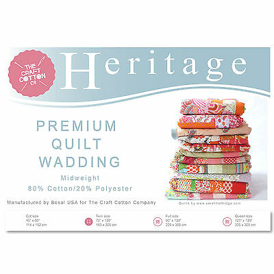 Craft Cotton 3521-04 Heritage Premium Midweight Wadding | Queen Size | 305x305cm