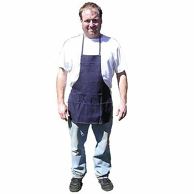 HAWK AD015 - Bib Apron Denim Blue 3 Pocket Metal Wood Working, Barbecuing [I1-6]