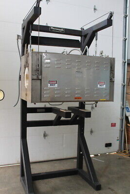 Split tube furnace, Horizontal, 34000 W, 3 zone, 2200 deg F, TSP-11.5 Thermcraft