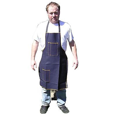 "HAWK AD018 - Blue Denim Shop Apron 2 Pocket 25"" X 34"" Woodworking, Metal Working"