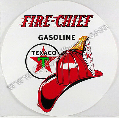 "Texaco Fire Chief 12"" Vinyl Gas & Oil Pump Decal Dc-114"