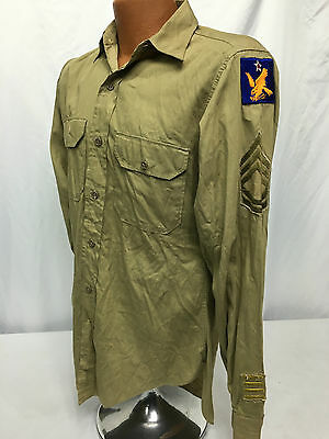 WWII US Army Air Corps 2nd Air Force Long Sleeve Shirt