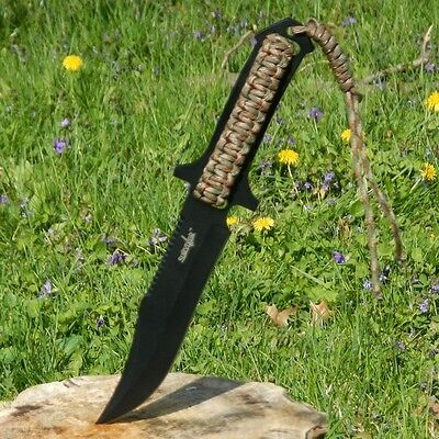 "10.75"" TACTICAL Survival SAWBACK Full Tang FIXED BLADE KNIFE Hunting w/ SHEATH"