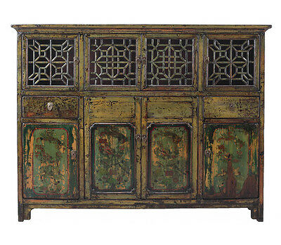 Chinese Vintage DongBei Kitchen Dining Room Curio Cabinet cs1297