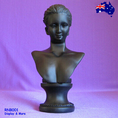 NEW Resin Head Bust Necklace Earring Display Stand-Black | AUSSIE Seller