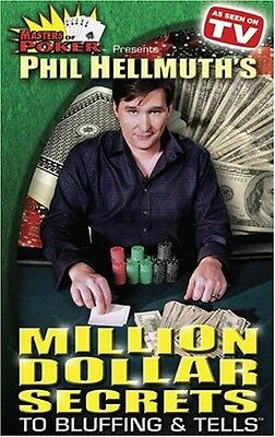 Masters of Poker: Phil Hellmuth's Million Dollar Secrets to Bluf (2004, DVD New)
