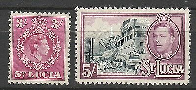 St Lucia 1938 Kgvi Ship 3/- And 5/-