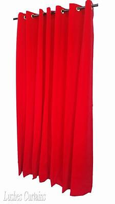 "Red 96"" High Velvet Curtain Panel w/Grommet Top Eyelets Window Treatment Drapery"