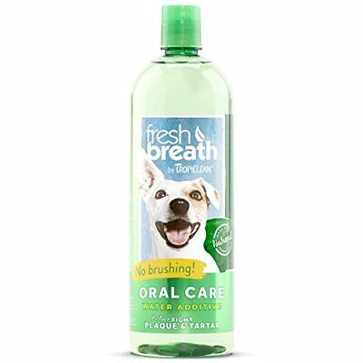 NEW Tropiclean Fresh Breath Plaque Remover Pet Water Additive 33.8oz