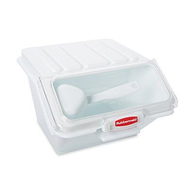 NEW Rubbermaid Commercial ProSave Food Storage Bin with Scoop White FG9G6000WHT