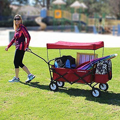 EasyGo Wagon  Red Folding collapsible utility . Fits in trunk of standard car