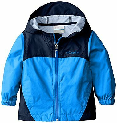 NEW Columbia Little Boys Toddler Glennaker Rain Jacket Hyper Blue 4T