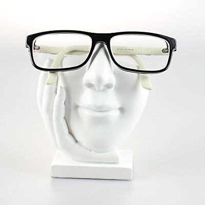 NEW Eyeglasses Holder  Face Eyeglass Display Stand  Sculpted White Face