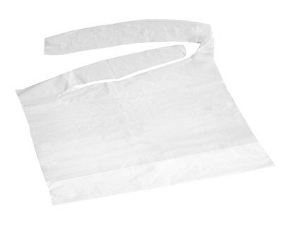 NEW Disposable Plastic Bibs with Crumb Catcher 500 case FREE SHIPPING
