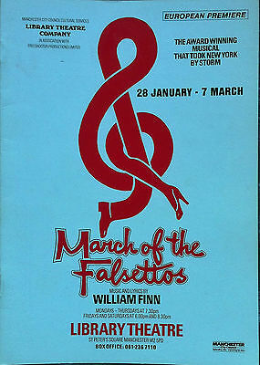 March Of The Falsettos Library Theatre Programme 1987