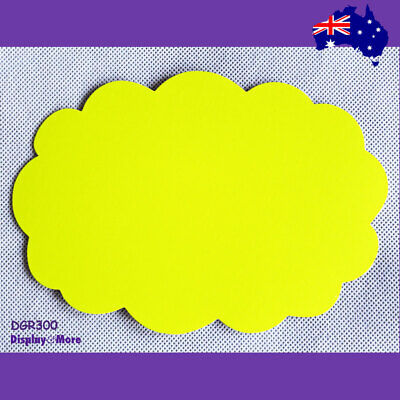 30X Retail Price Sign Card-13x19cm-FLURO Yellowish Green-Rounded | AUSSIE Seller