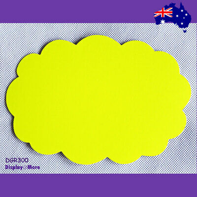 Price SIGN Card POP Retail Shop | 30pcs 13x19cm | FLURO Yellowish Green-Rounded