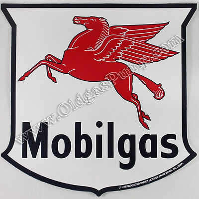 "Mobilgas Gasoline Sheild 12"" Vinyl Mobil Gas & Oil Pump Decal Dc-129"