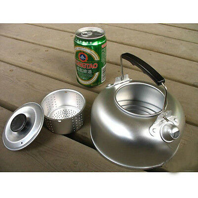 NEW CAMPFIRE 950mL KETTLE / TEAPOT OUTDOOR CAMPING WATER Aluminum Coffee Pot