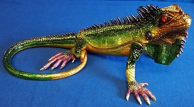 Juliana Treasured Trinkets Large Iguana Metal Trinket Box 14899 Reptile Lizard