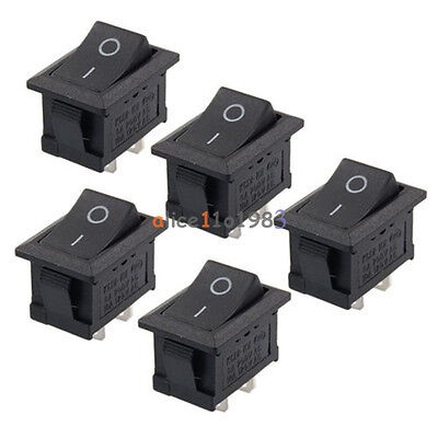 10PCS Car Truck Boat Round Rocker 2 Pin KCD1-101 ON OFF Toggle Switch 125V 6A