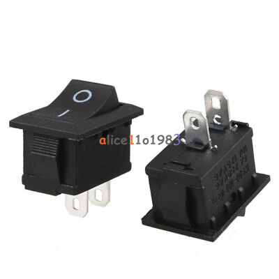 5PCS Car Truck Boat Round Rocker 2 Pin KCD1-101 ON OFF Toggle  Switch 125V 6A