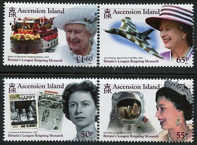 Ascension Island 2015  Queen Elizabeth Ii Longest Reigning British Monarch Set