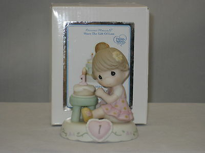 Precious Moments * Growing In Grace Age 1 Brunette (New Color) 142010B NIB