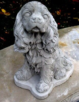 Concrete Cocker Spaniel Or Cavalier King Charles  Dog Statue Or  Monument    Nt