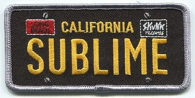 SUBLIME license plate logo EMBROIDERED IRON-ON PATCH **FREE SHIPPING** P-277