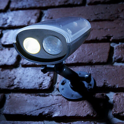 Outdoor Garden Path Wall Roof Solar Power Motion Activated Fence Yard Light Lamp